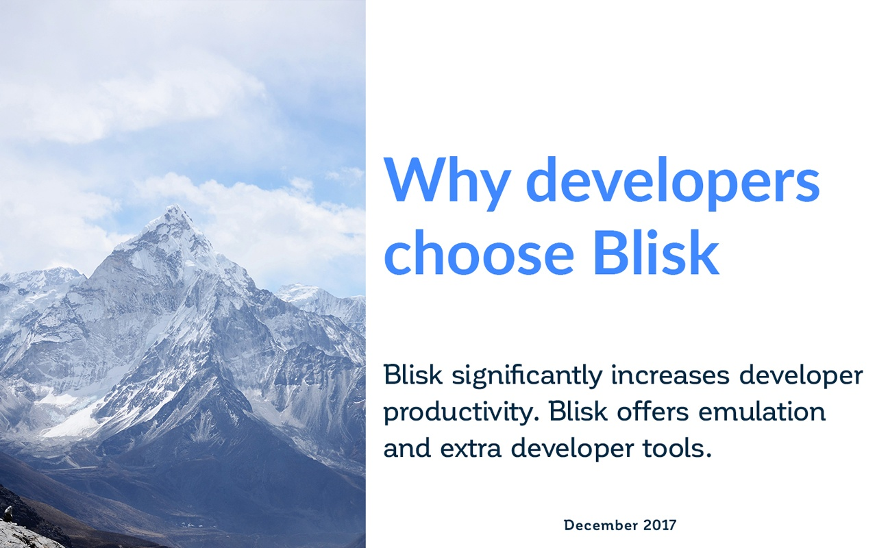How developers benefit from Blisk