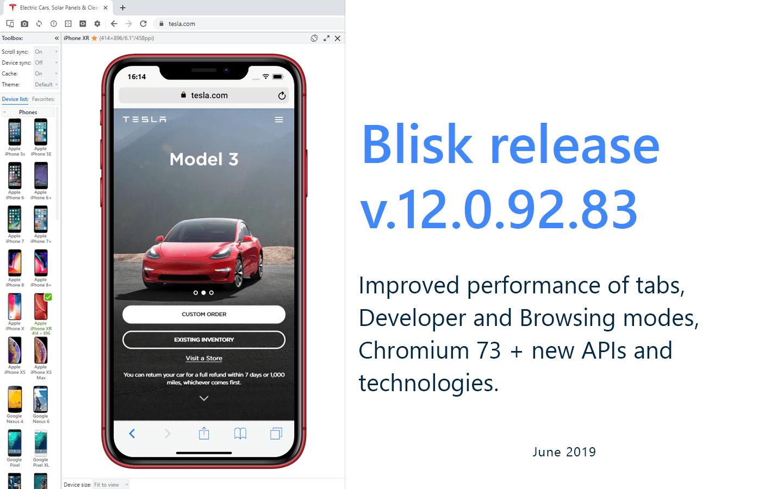 Blisk release 12 0 92 83