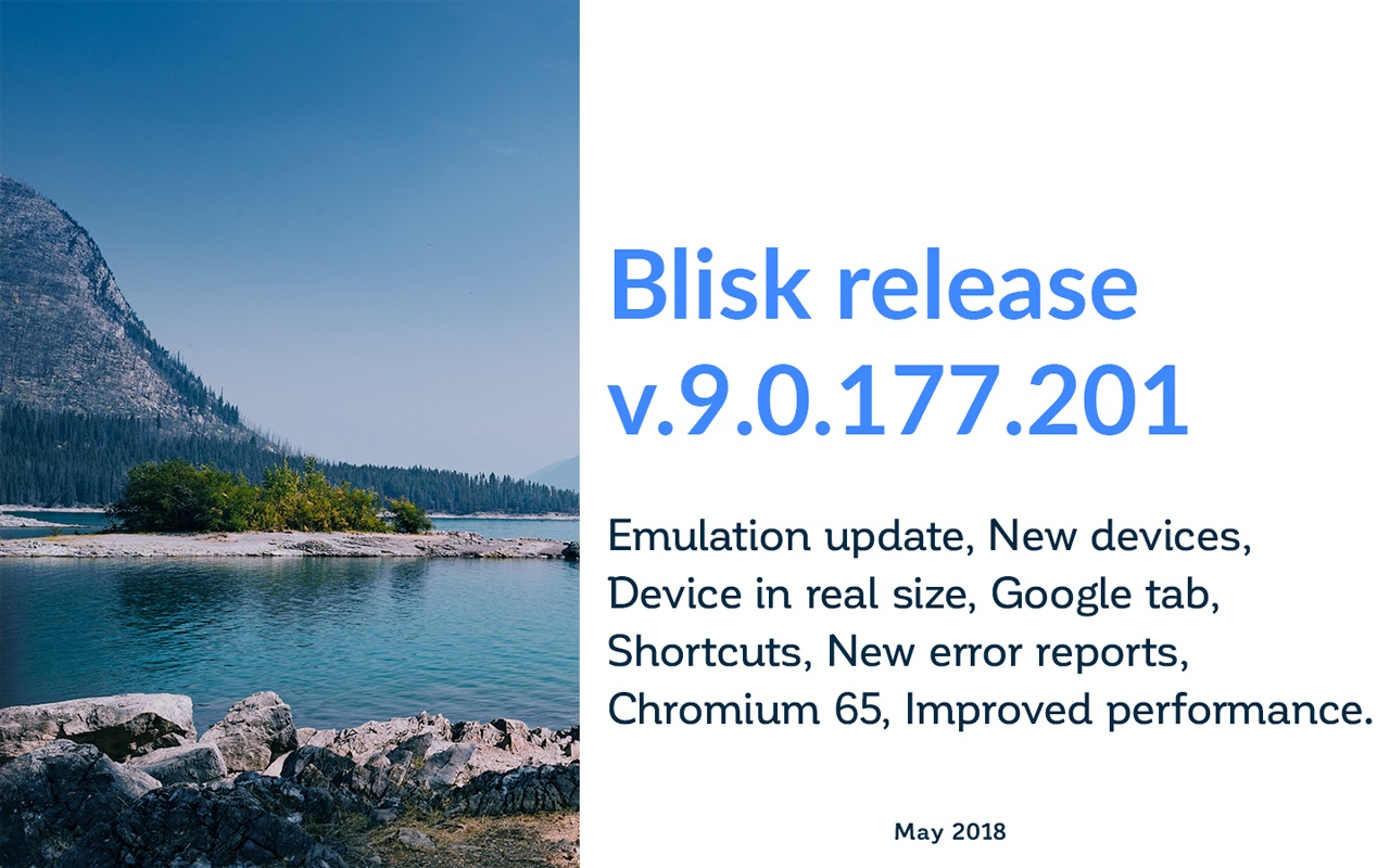 Blisk Release May 2018