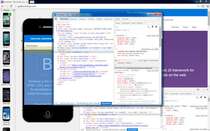 Developer tools in Blisk browser